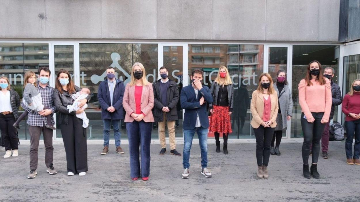 Participants a l'acte del primer santcugatenc de l'any organitzat per Cugat Mèdia/Foto:Ajuntament de Sant Cugat
