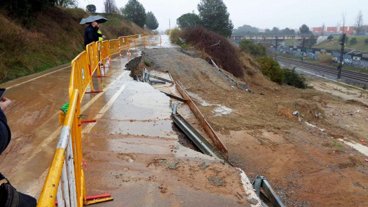 El camí de Sant Cugat a Sabadell va quedar malmès durant el Glòria / Foto: Ajuntament