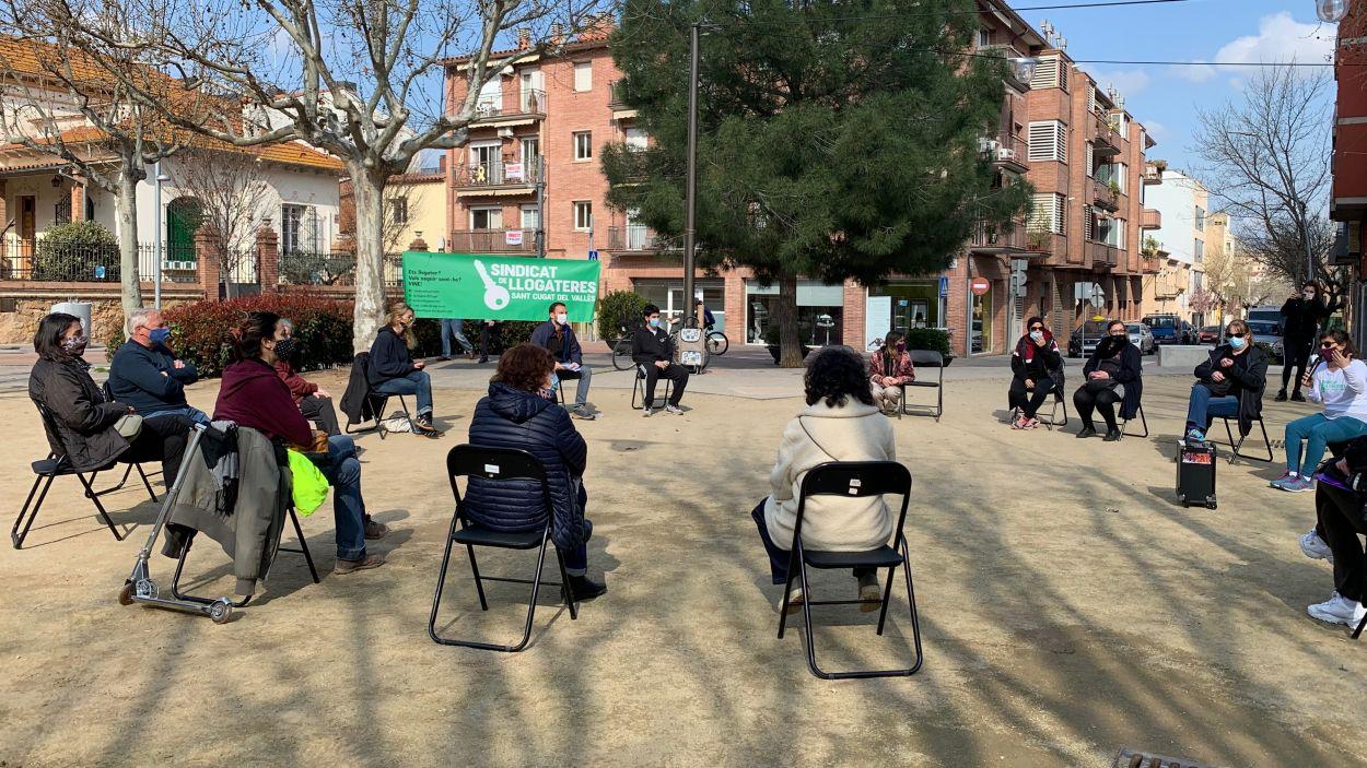 Assemblea oberta del Sindicat de Llogateres / Foto: Cugat Mèdia