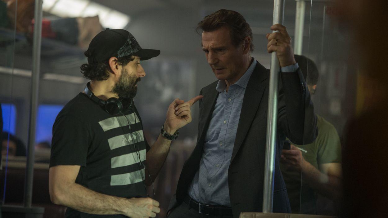 El director català Jaume Collet-Serra i l'actor Liam Neeson al rodatge de 'El pasajero' / Foto: ACN