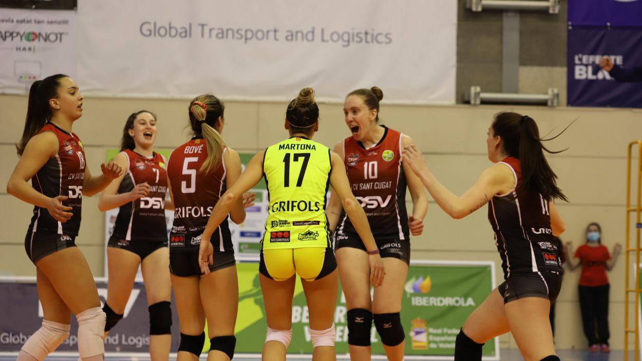 El DSV- Voleibol Sant Cugat, a un pas del play-off pel títol / Font: Mireia Norberto