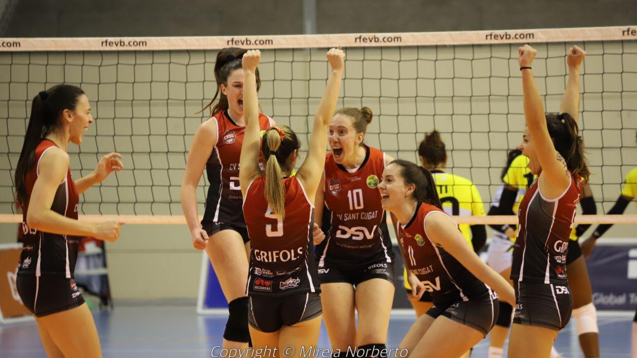 El DSV- Volei Sant Cugat vol classificar-se per al play-off pel títol / Font: Mireia Norberto