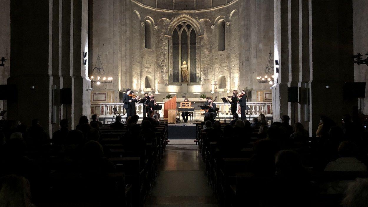 El concert de Sant Medir, just després de la missa, ha tancat la celebració del copatró de Sant Cugat / Foto: Cugat Mèdia