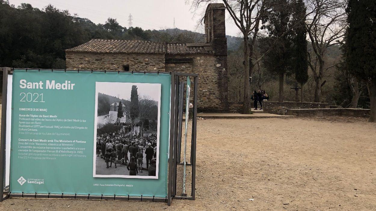 Tot i que no s'ha celebrat el tradicional Aplec, l'Ermita s'ha mantingut oberta algunes hores / Foto: Cugat Mèdia
