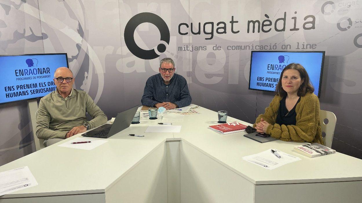 Ramon Palacio i Eva Abellán al plató de Cugat Mèdia / Foto: Cugat Mèdia