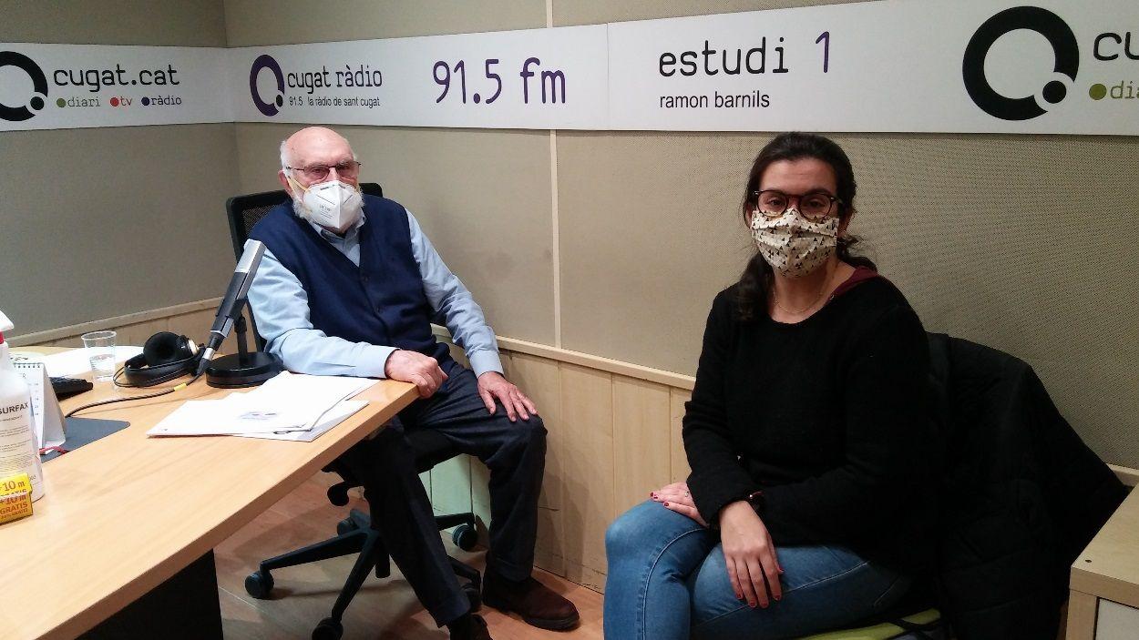 Eduard Jener amb la tinenta d'alcaldia de Cultura, Esther Madrona / Foto: Cugat Mèdia