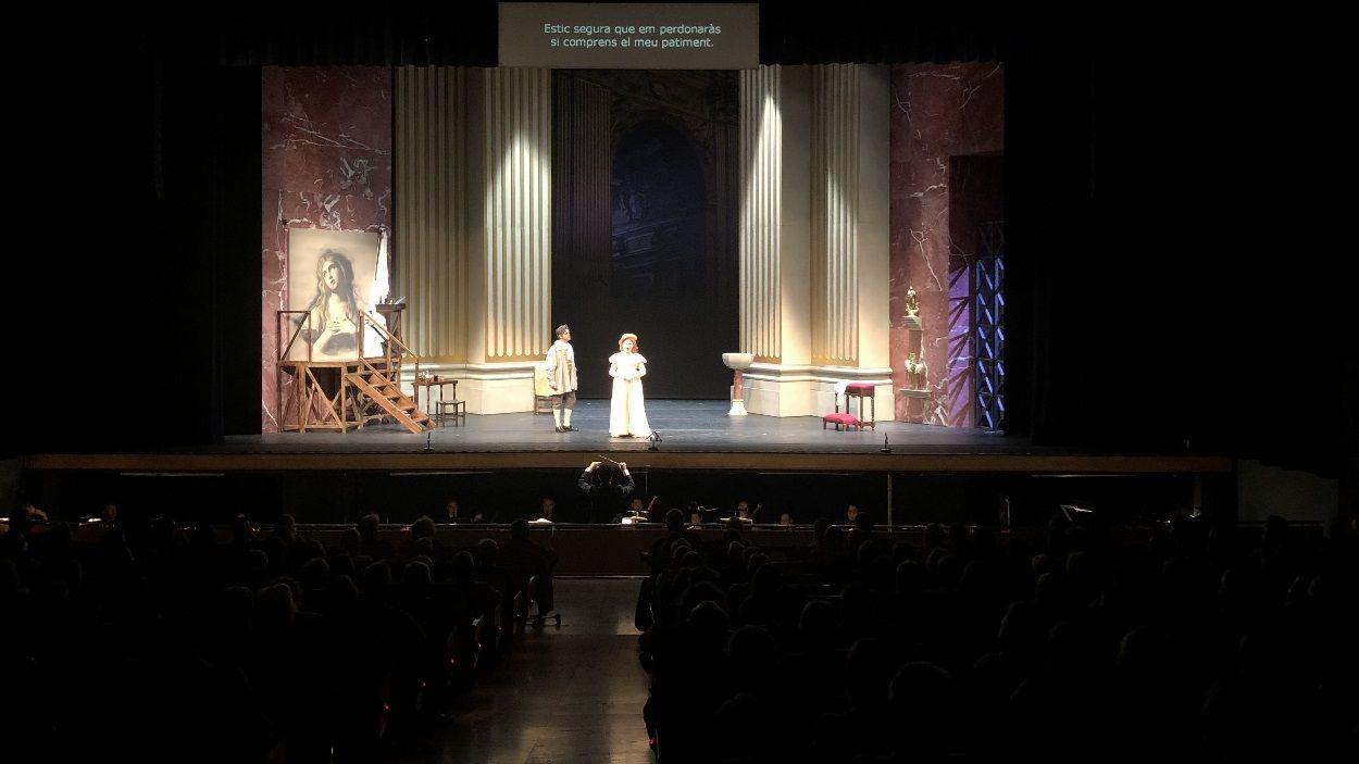 Un moment de la representació de 'Tosca' al Teatre-Auditori de Sant Cugat / Foto: Cugat Mèdia