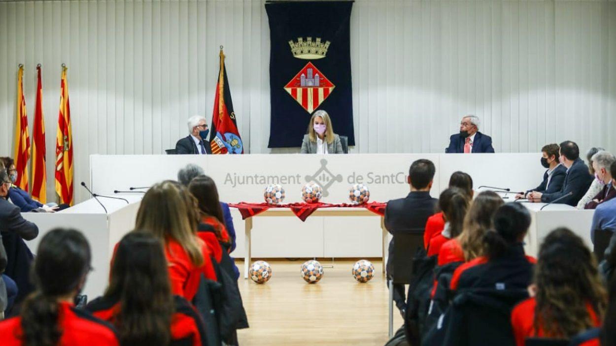 Presentació dels 50 anys de futbol femení al Sant Cugat FC / Foto: Lali Puig - Ajuntament