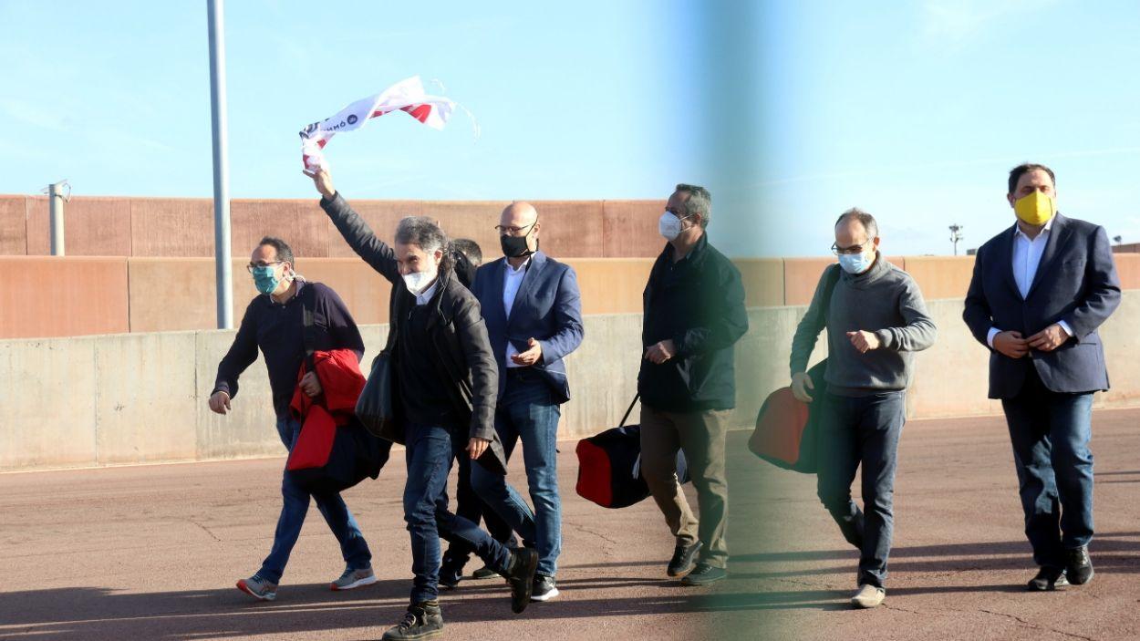 Els presos independistes de Lledoners en una imatge del 29 de gener / Foto: ACN (Mart Martí)