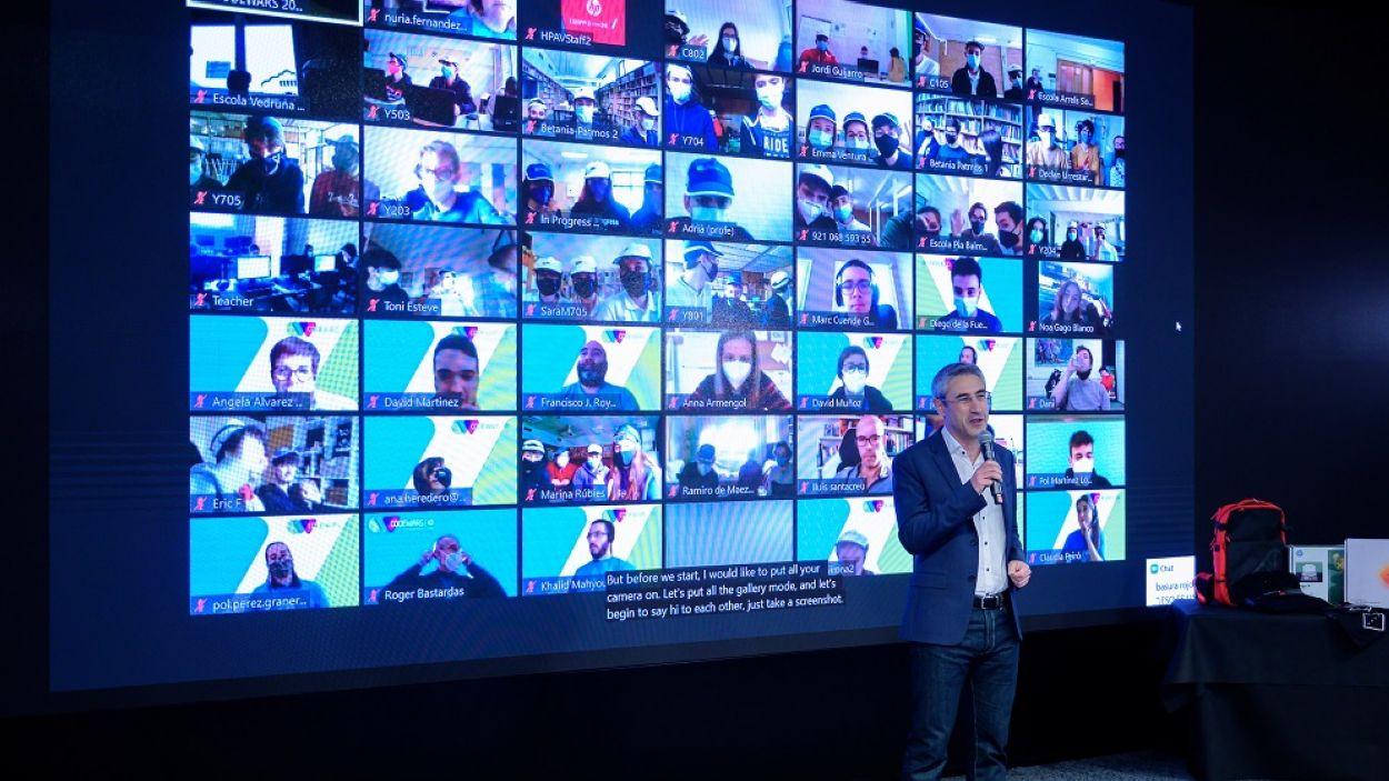 El director general d'HP, Ramon Pastor, durant el CodeWars / Foto: HP