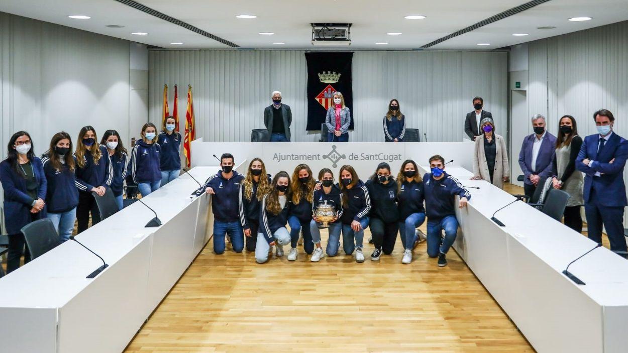 Rebuda institucional del Junior FC pel seu triom a la Copa de la Reina / Foto: Lali Puig - Ajuntament de Sant Cugat