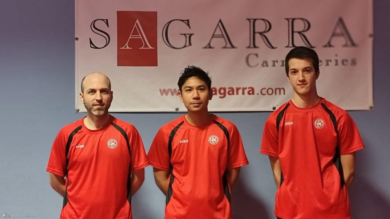 Equip de la UESC de tennis taula/ Foto: UESC