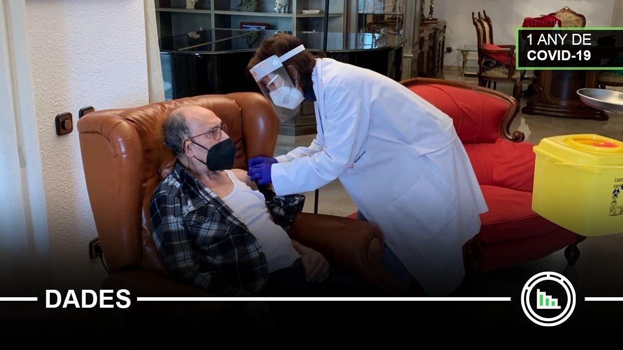 Moment d'una vacunació a Sant Cugat / Foto: Cugat Mèdia