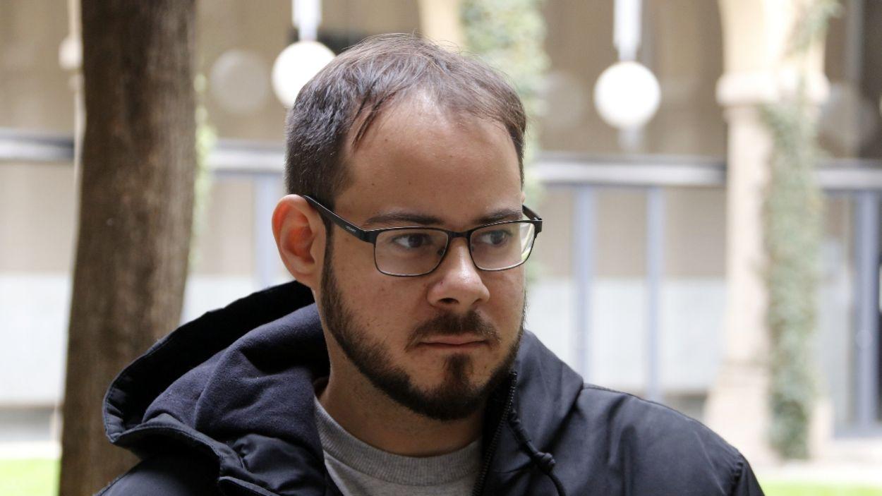 Pablo Hasél a la Universitat de Lleida, abans de ser empresonat / Foto: ACN/Oriol Bosch