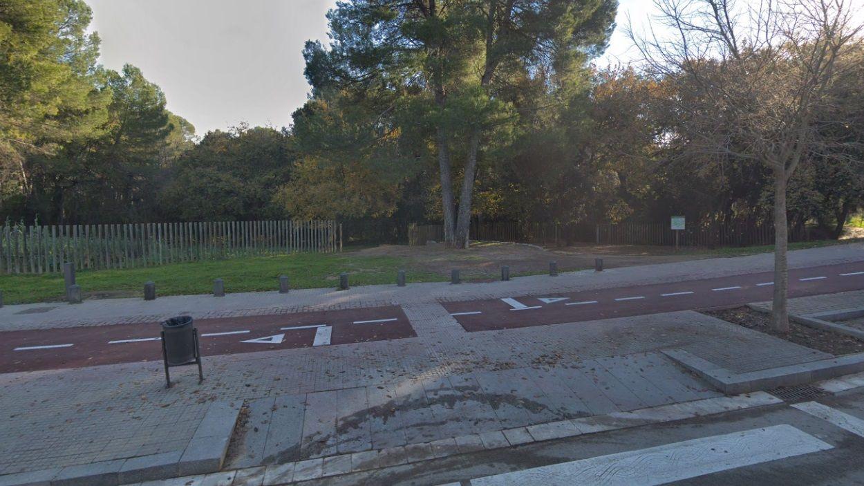 Imatge d'arxiu de l'entrada al Bosc de Volpelleres / Foto: Google Maps