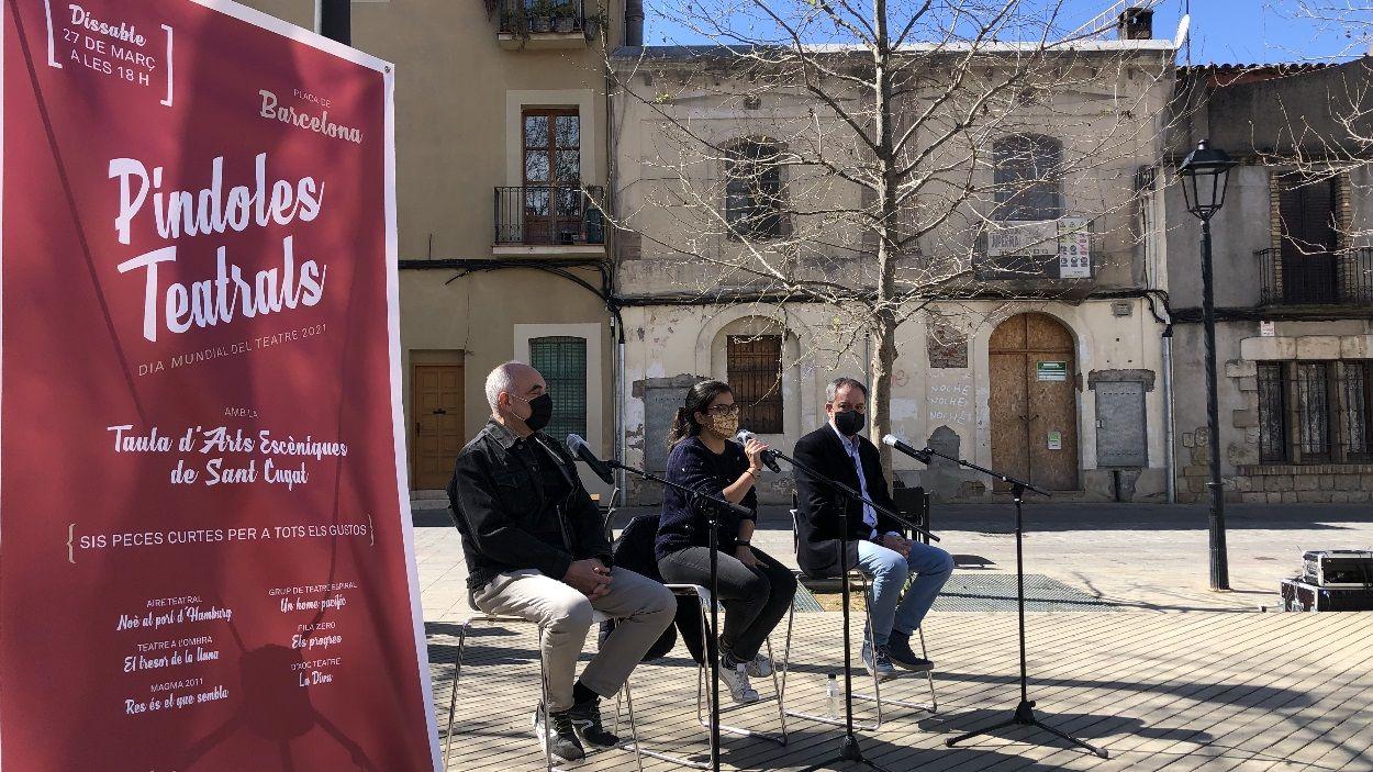 La presentació també ha tingut lloc a la plaça de Barcelona, on es faran les representacions / Foto: Cugat Mèdia