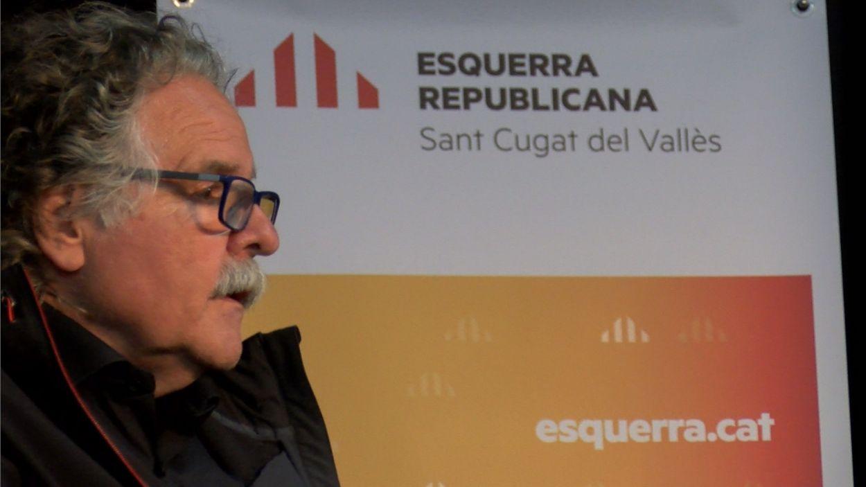 Joan Tardà, aquest dimarts al CPA de Sant Cugat / Foto: Cugat Mèdia