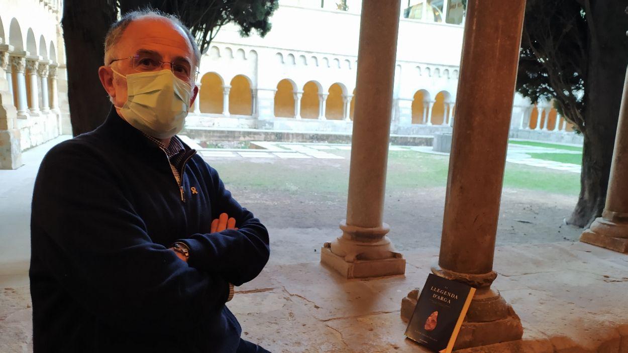 Xavier Escura al Claustre del Monestir de Sant Cugat / Foto: Cugat Mèdia
