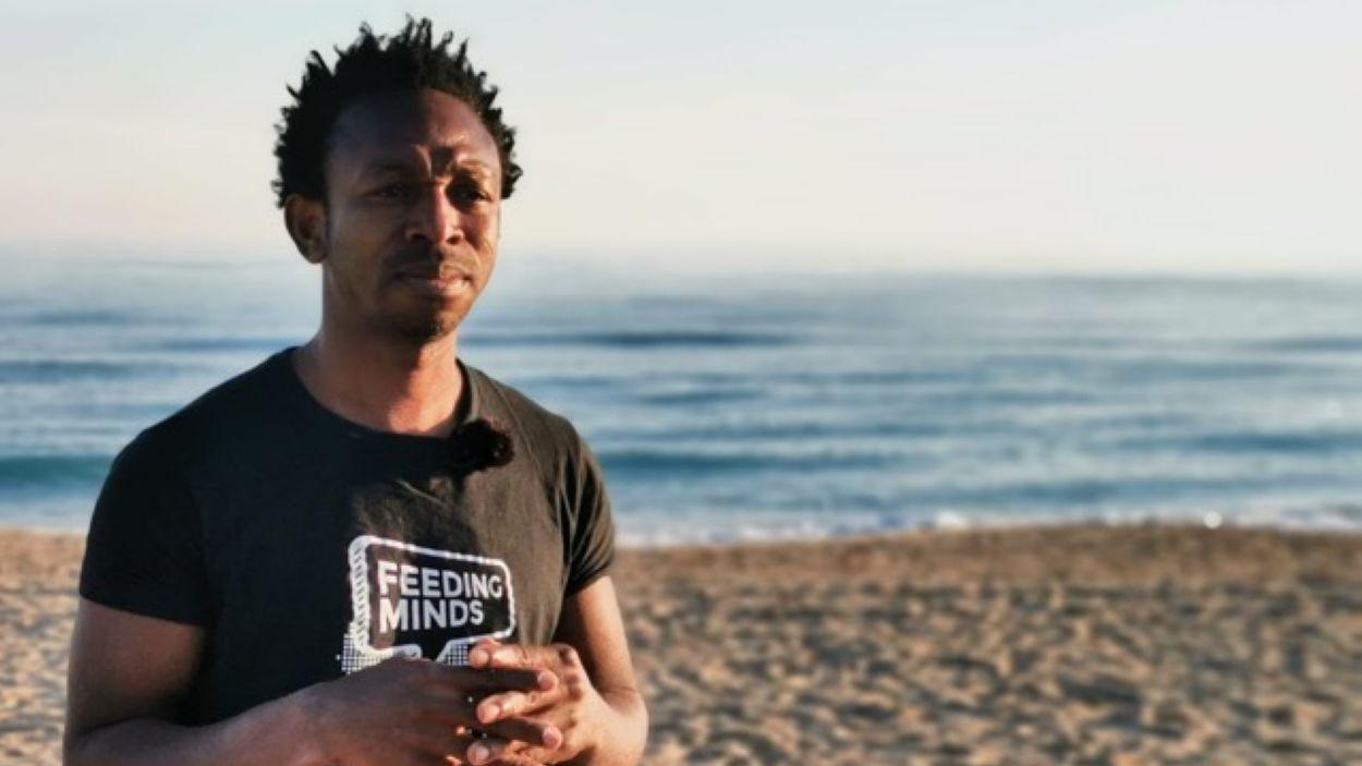 Ousman Umar va fundar l'ONG NASCO Feeding Minds el 2012 / Foto: Cedida