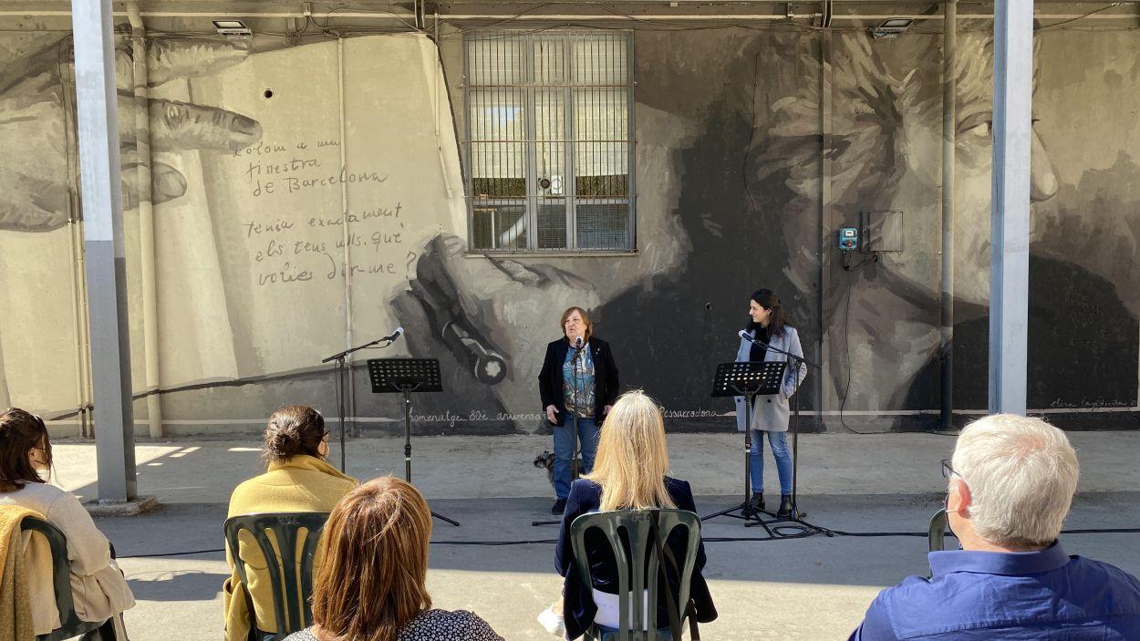 Imatge de l'acte celebrat en honor a la poetessa santcugatenca / Foto: Cugat Mèdia