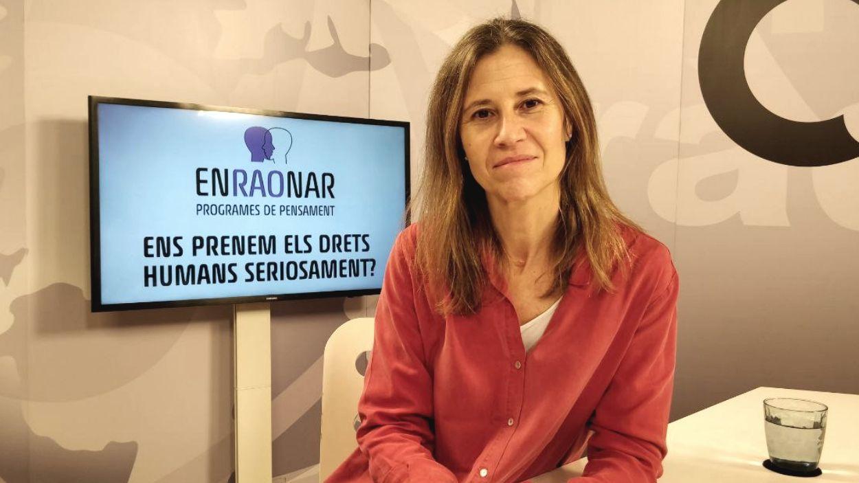 Isabel Galí, al plató de Cugat Mèdia / Foto: Cugat Mèdia
