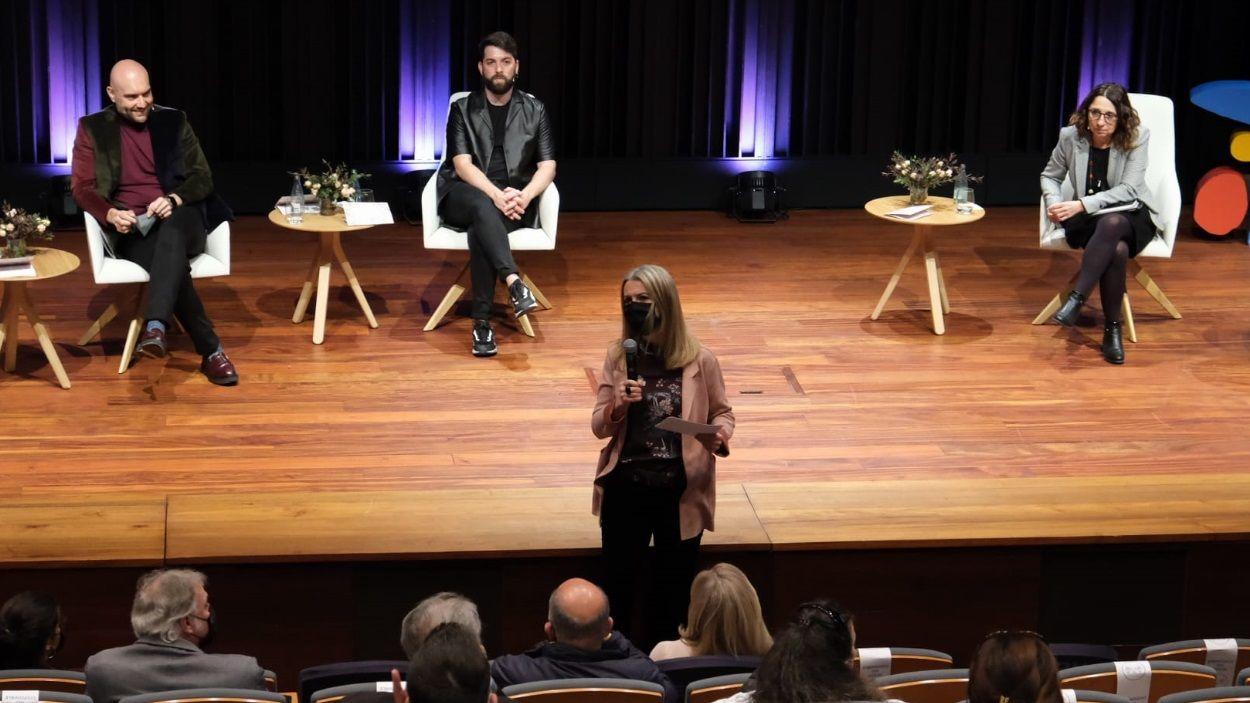 Moment de la presentació al CaixaForum de Barcelona, en la qual ha participat l'alcaldessa de Sant Cugat / Foto: Ajuntament
