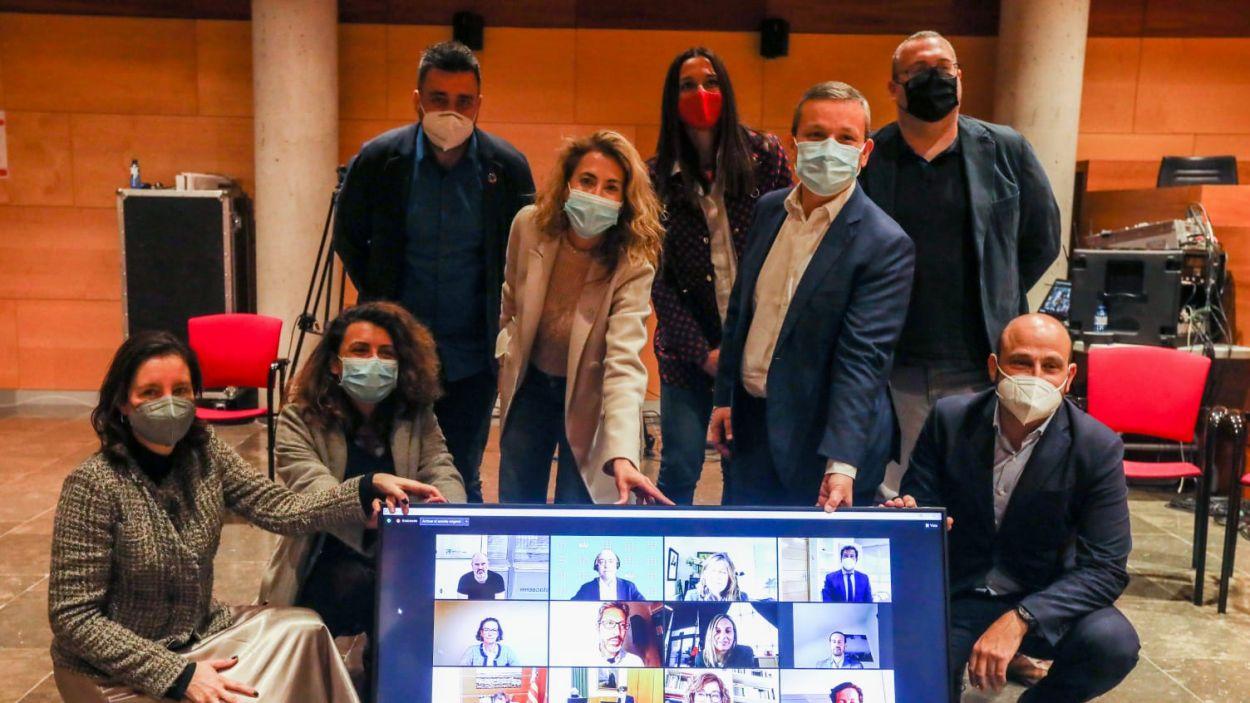 Els representants del Hub ECCUS / Foto: Cedida