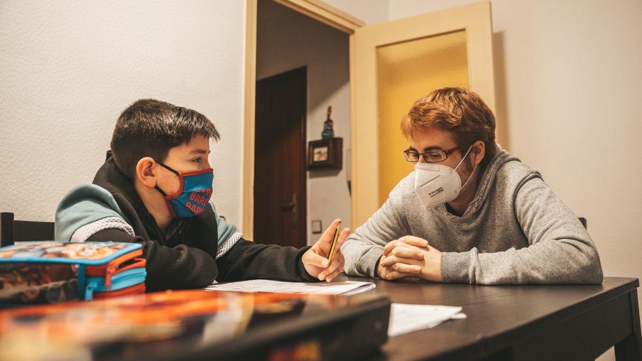Aitor i Sergi durant una classe / Foto: Cugat Mèdia