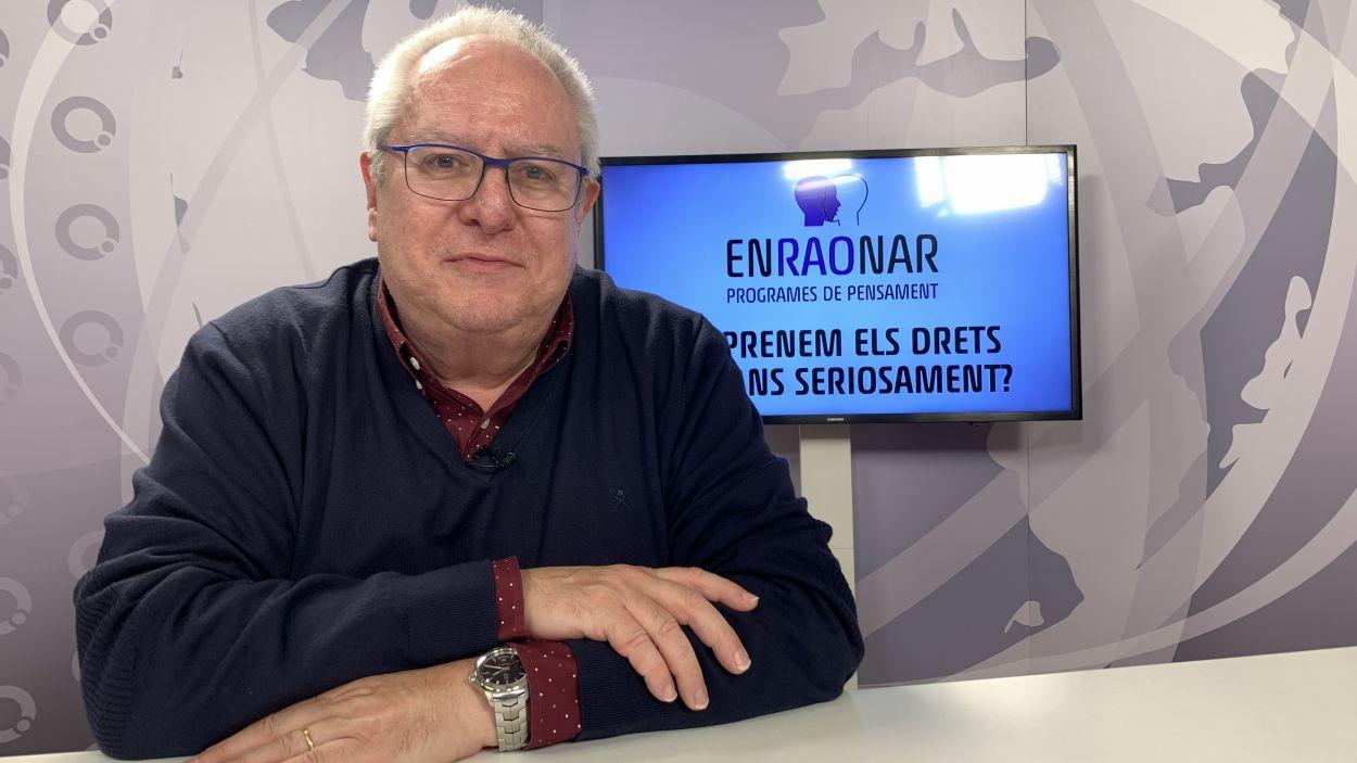 Joan Queral al plató de Cugat Mèdia / Foto: Cugat Mèdia