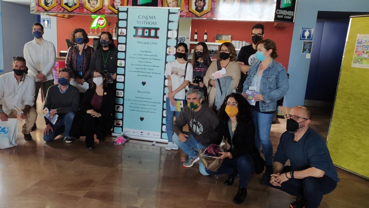 La presentació dels actes del Dia Mundial del TEA s'ha celebrat als Cinemes de Sant Cugat / Foto: Cugat Mèdia