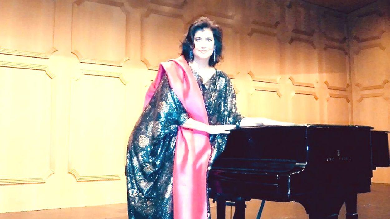 Ana Häsler amb el vestit de Victoria de los Angeles / Foto: Cedida