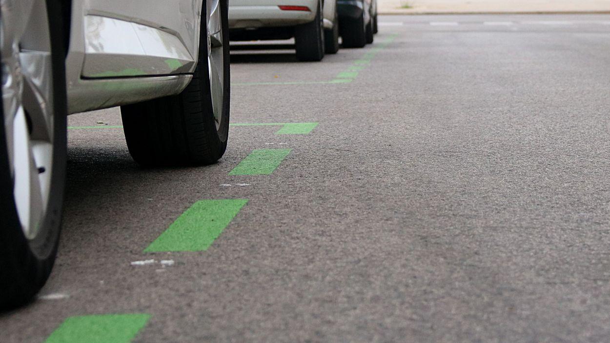 Imatge d'arxiu d'una zona verda d'aparcament / Foto: ACN