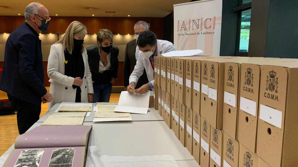 Arriben més 'papers de Salamanca' a l'Arxiu Nacional de Catalunya