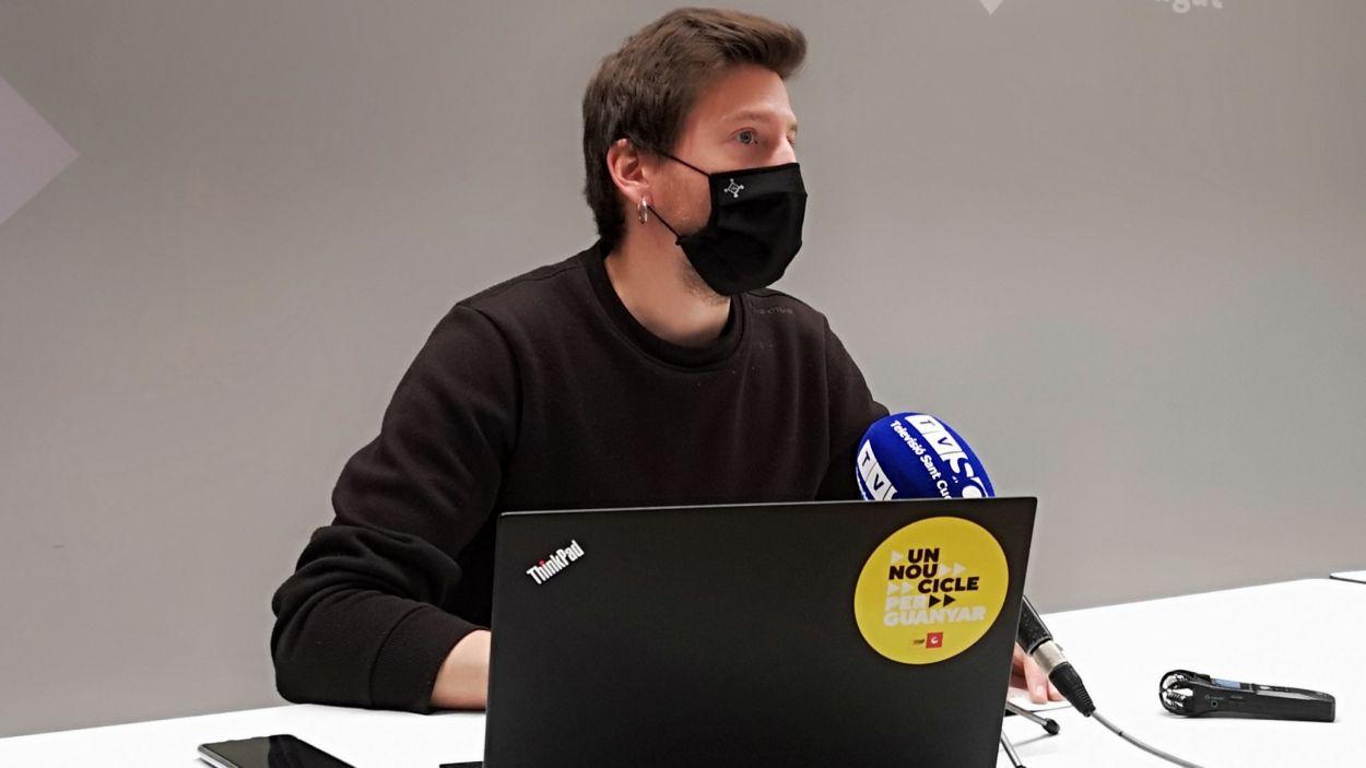 El regidor de Participació i Barris, Marco Simarro, a la roda de premsa / Foto: Ajuntament