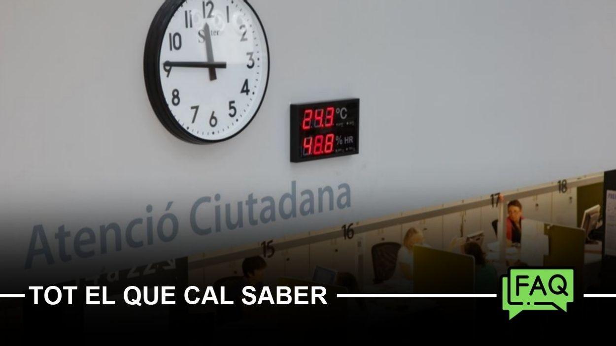 Les instàncies es poden presentar presencialment a l'Oficina d'Atenció Ciutadana / Foto: Ajuntament de Sant Cugat