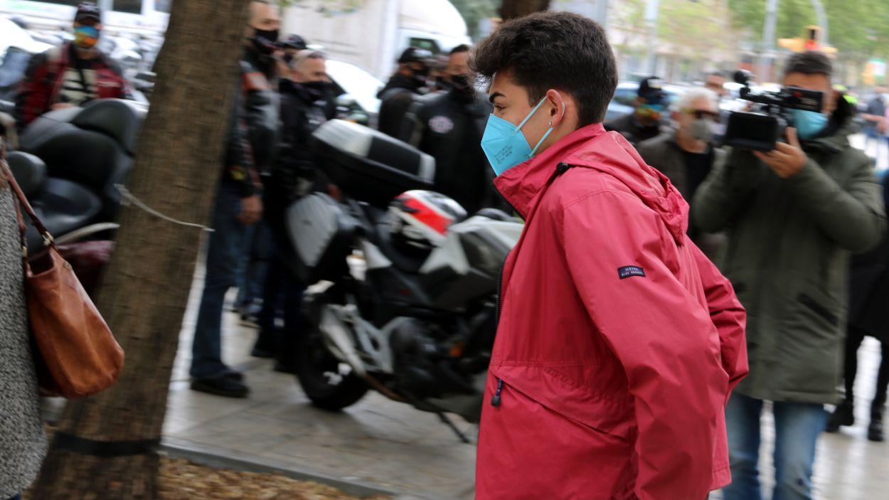 Guillem, aquest dimecres a la Ciutat de la Justícia / Foto: ACN