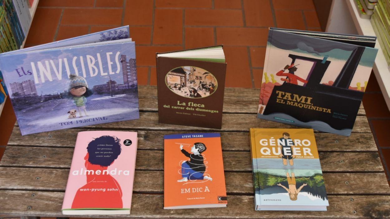 Portades de les sis recomanacions literàries / Foto: Cugat Mèdia