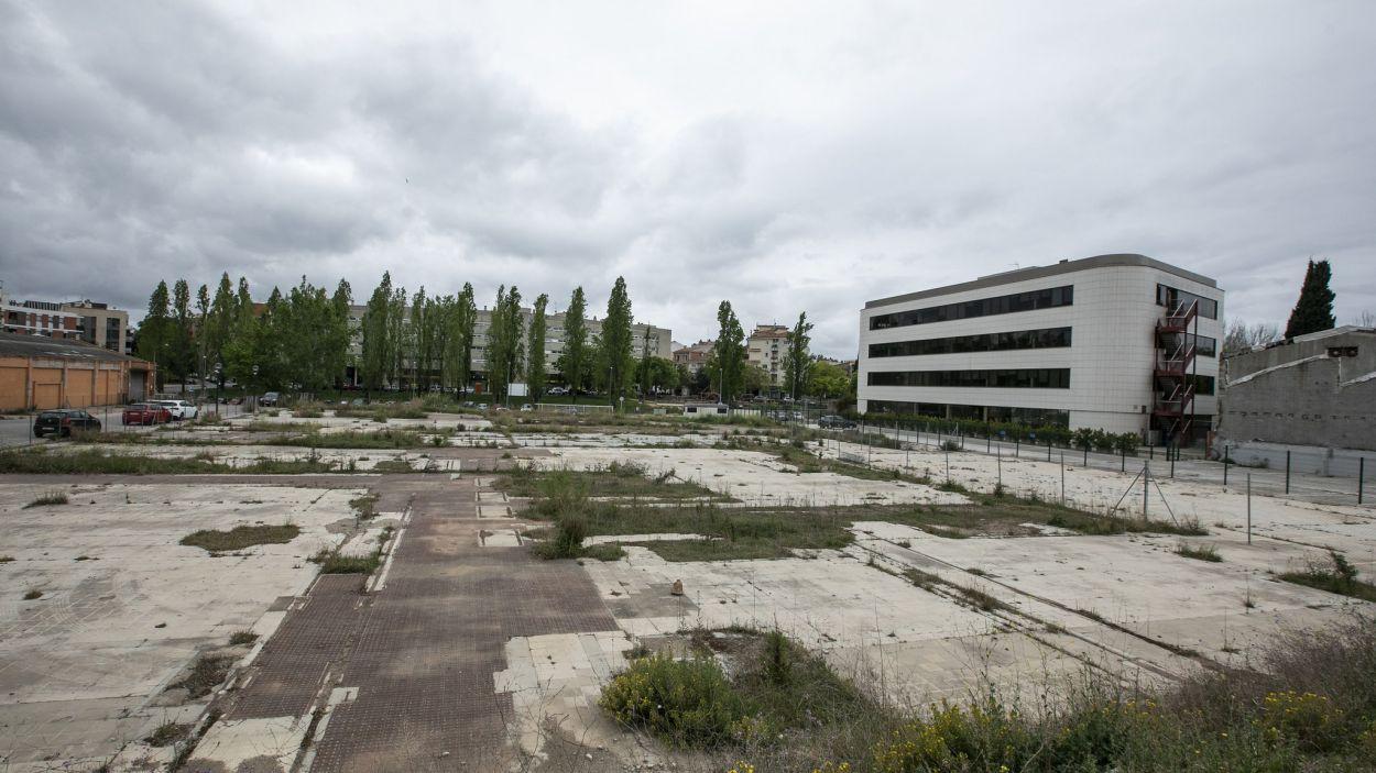 Terreny on ha de construir-se el projecte Ragull Centre / Foto: Lali Puig (Ajuntament de Sant Cugat)