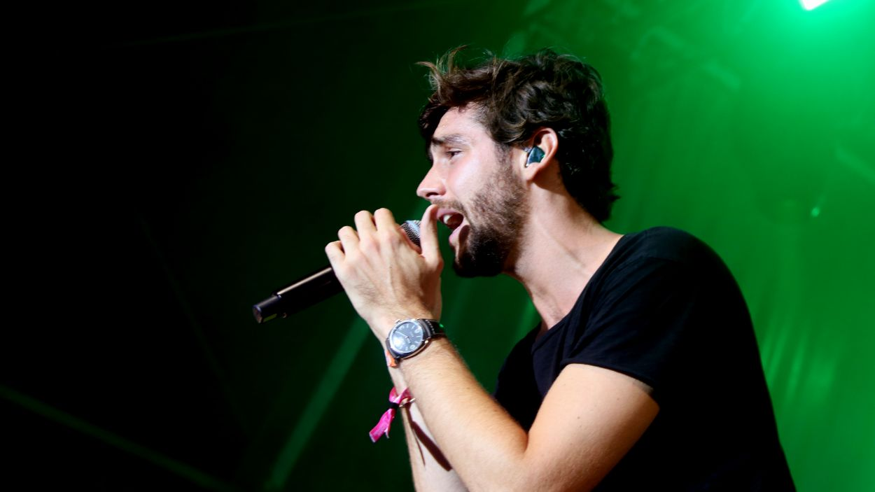 El cantant Álvaro Soler durant un concert / Foto: ACN
