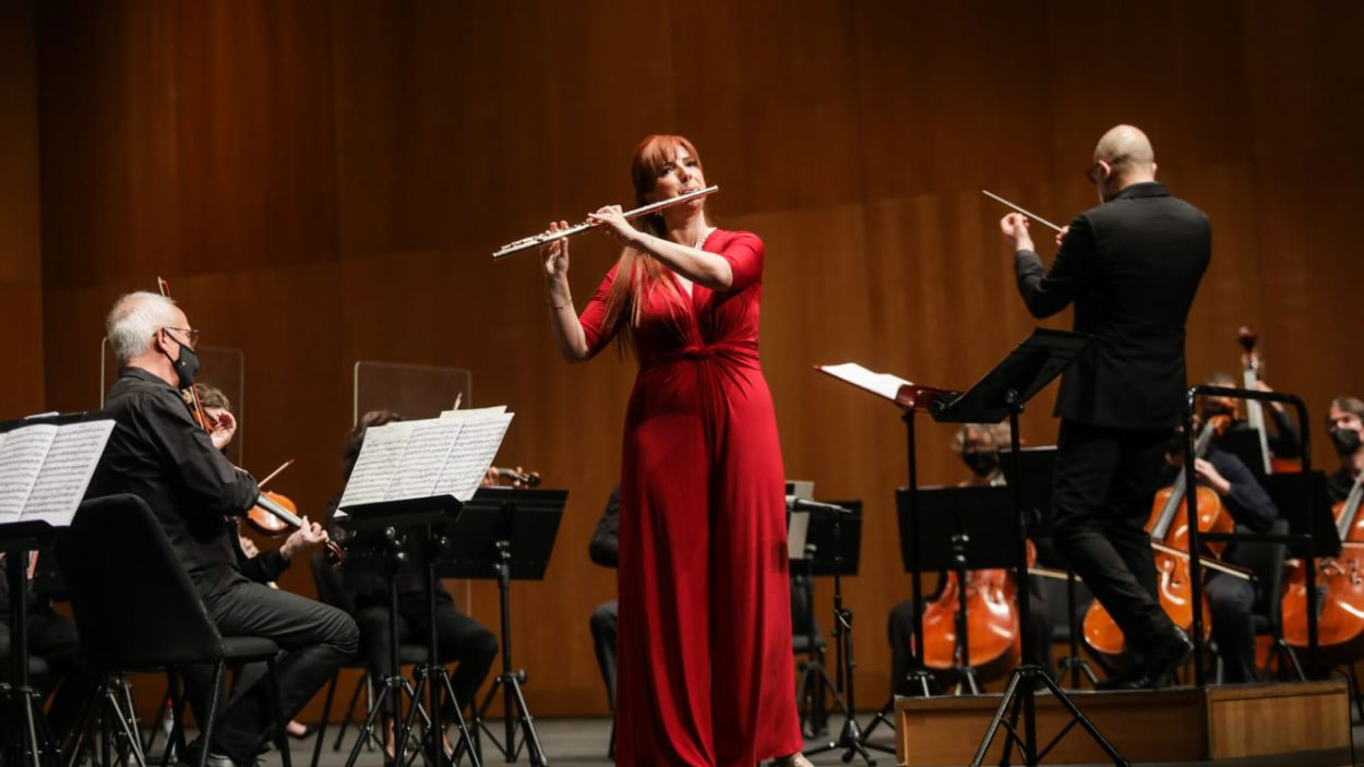 El concert ha comptat amb la flautista Patricia de No com a solista / Foto: Ajuntament (Lali Puig)