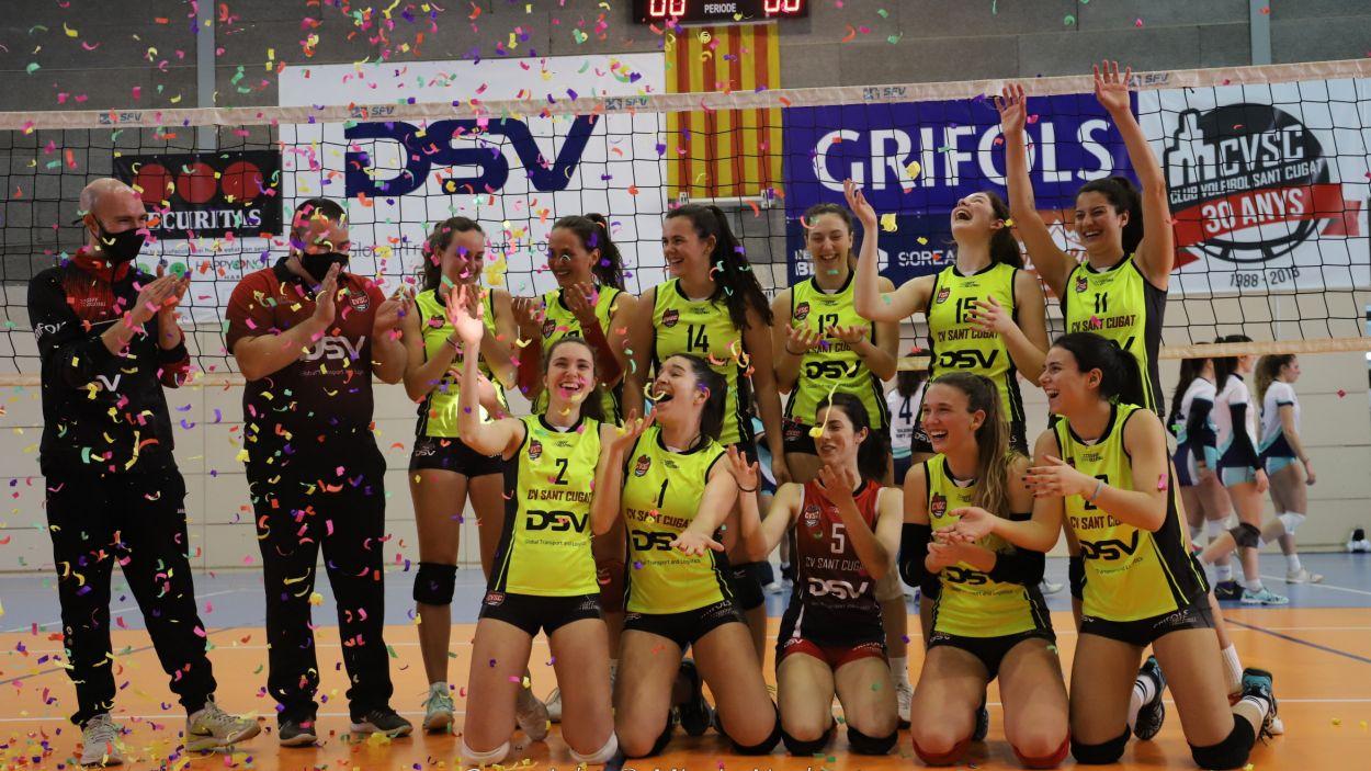 El DSV- Volei Sant Cugat B vol pujar a Superlliga 2 / Foto: Mireia Norberto