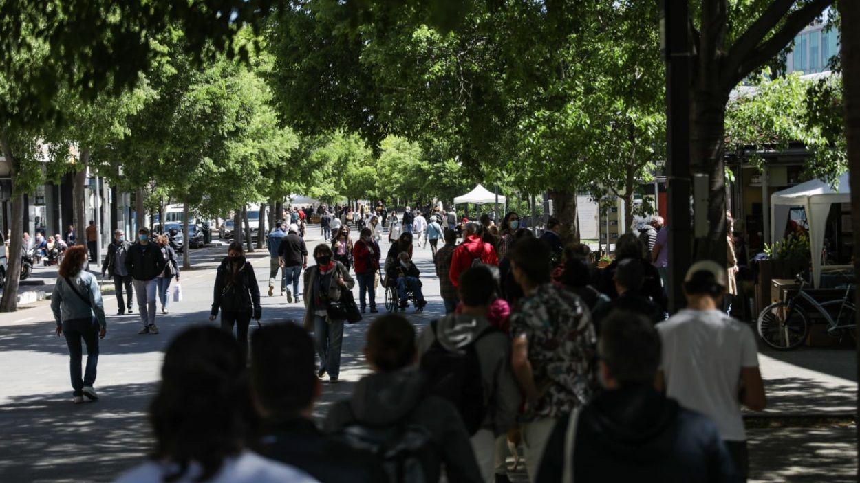 Sant Cugat ha tornat a sortir al carrer per Sant Jordi / Foto: Lali Puig (Ajuntament)