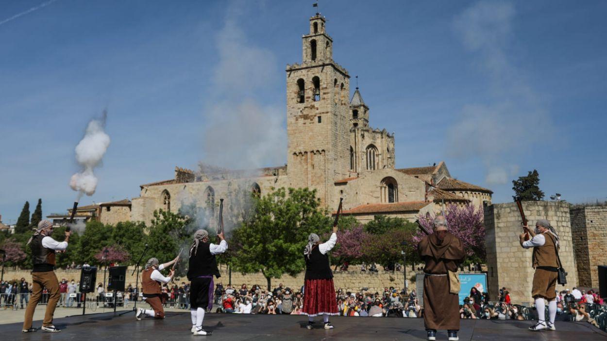 Els Trabucaires de Sant Cugat han actuat al matí / Foto: Ajuntament (Lali Puig)
