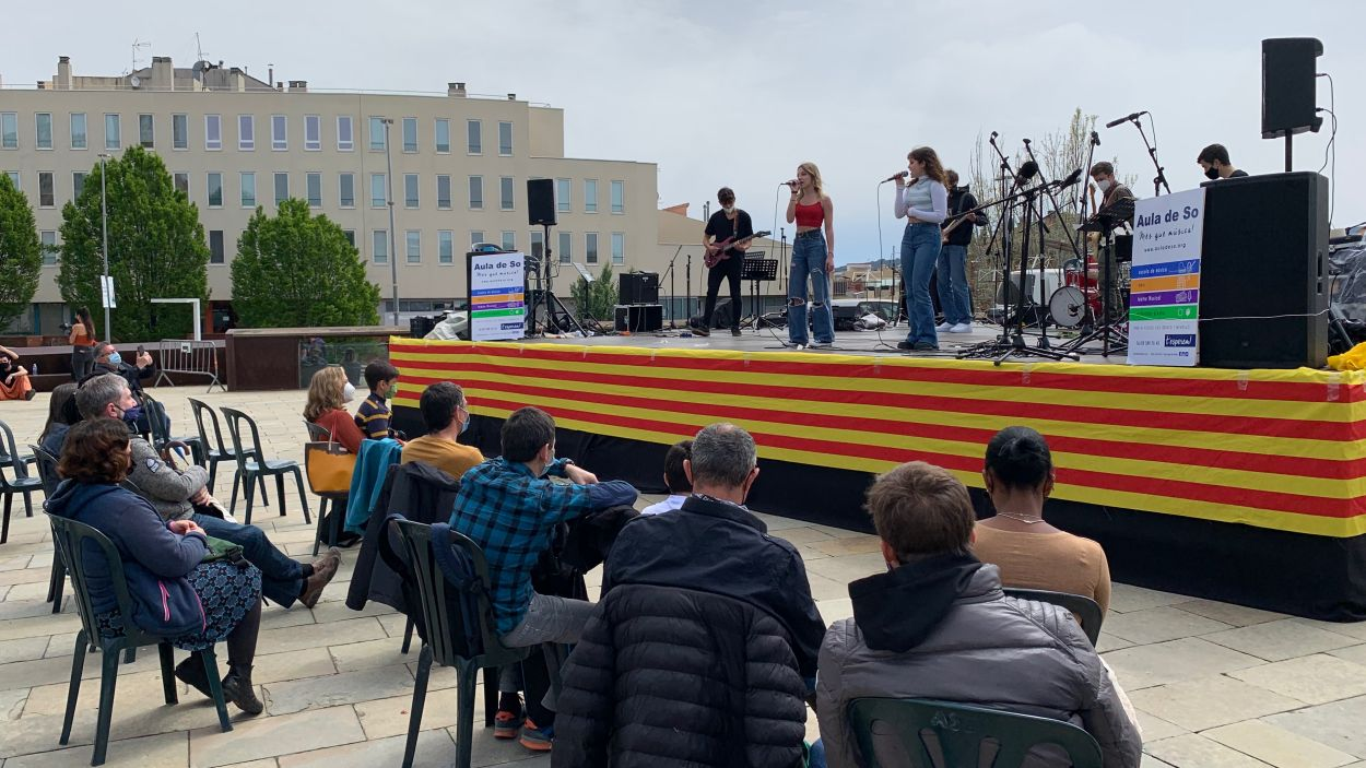 El grup musical Pyros també ha actuat aquest diumenge / Foto: Cugat Mèdia