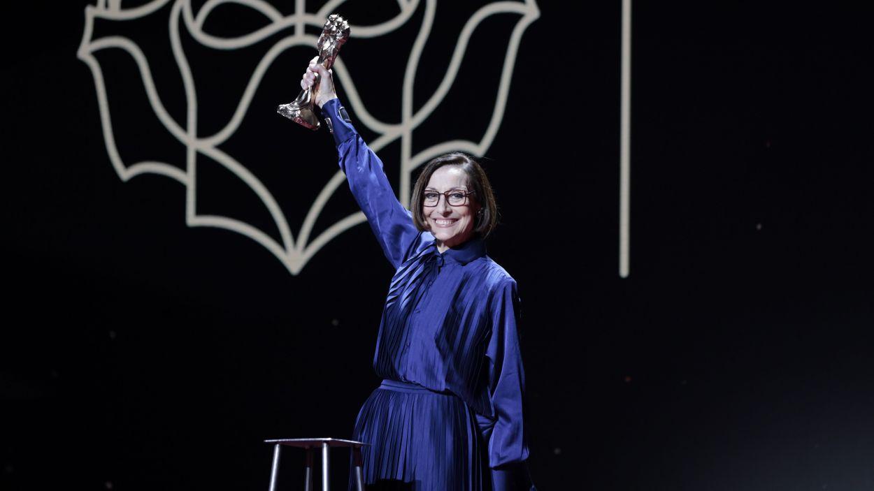 L'actriu Carme Elias recull el Gaudí d'Honor, el 21 de març de 2021 / Foto: ACN