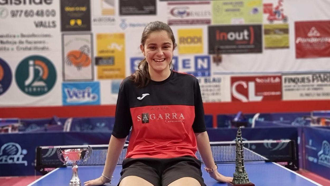 Mariona Muné celebrant un dels seus darrers títols / Foto: UESC