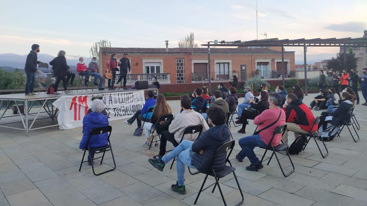 L'acte ha tingut lloc a la plaça de l'U d'Octubre / Foto: Cugat Mèdia