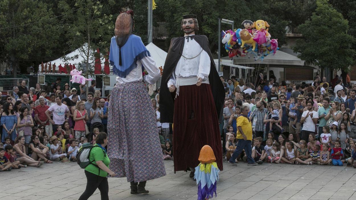 L'Assumpta i el Cebrià, gegants de Valldoreix, a la 32a Trobada Gegantera de Sant Cugat / Foto: Ajuntament