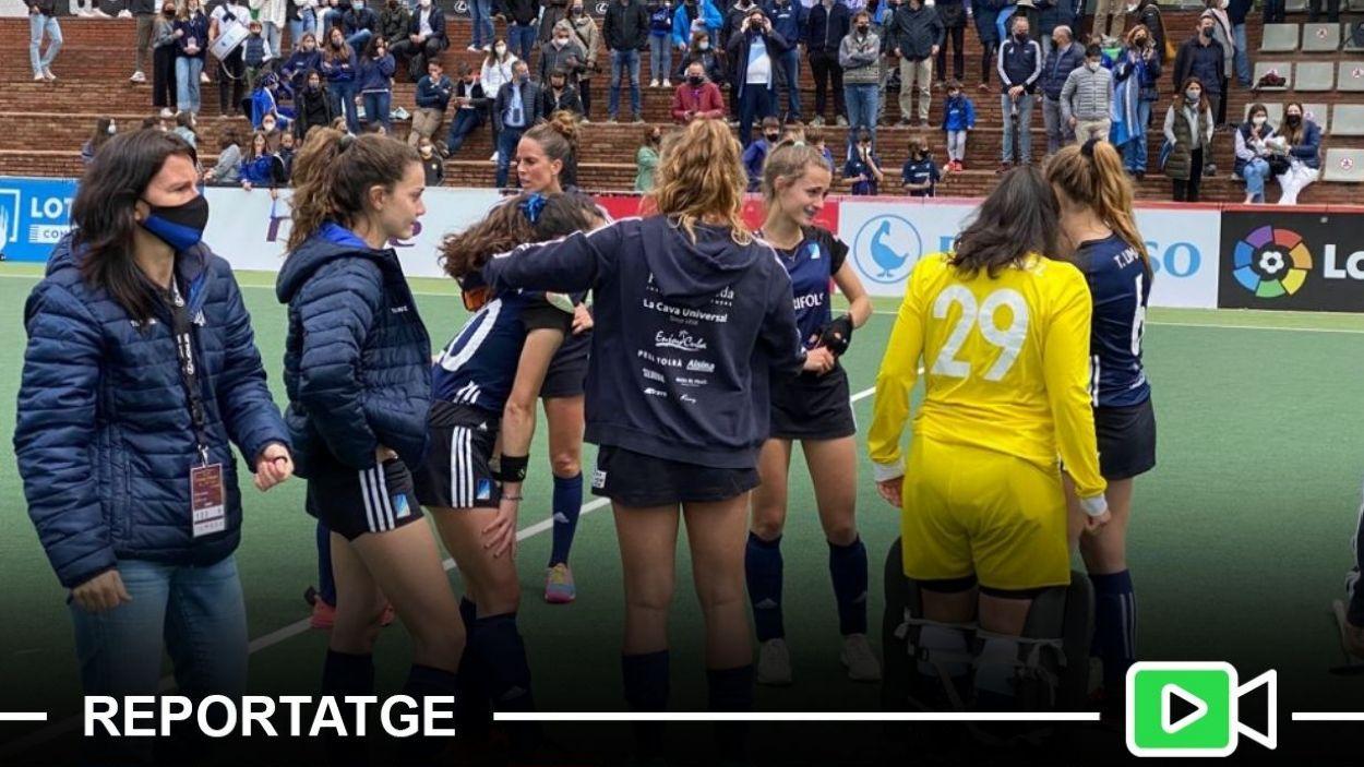 El binomi entre afició i jugadores del Junior, clau de l'èxit / Foto: Cugat Mèdia