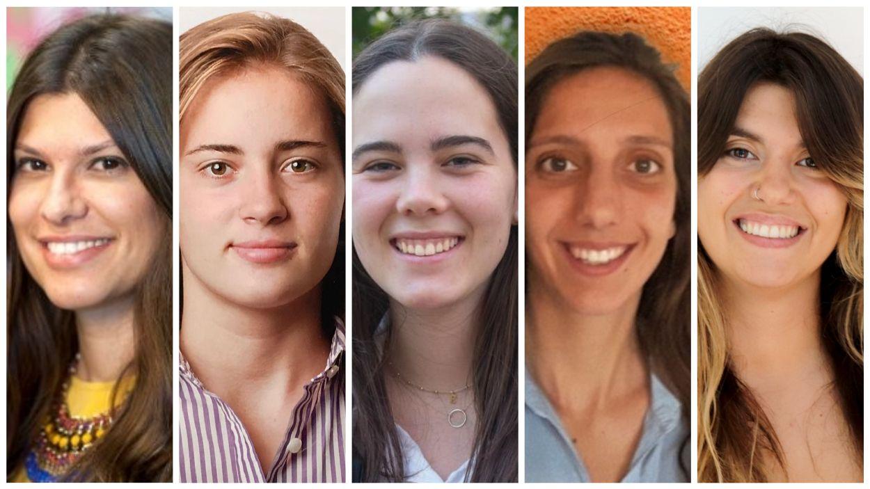 D'esquerra a dreta: Clàudia Massó, Victòria Guirao, Elvira de Ribot, Lara Claramunt i Meritxell Cardús / Fotos: Cedides